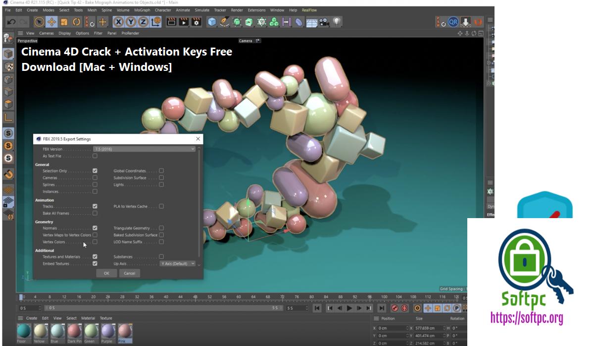Cinema 4D Crack + Activation Keys Free Download [Mac + Windows]