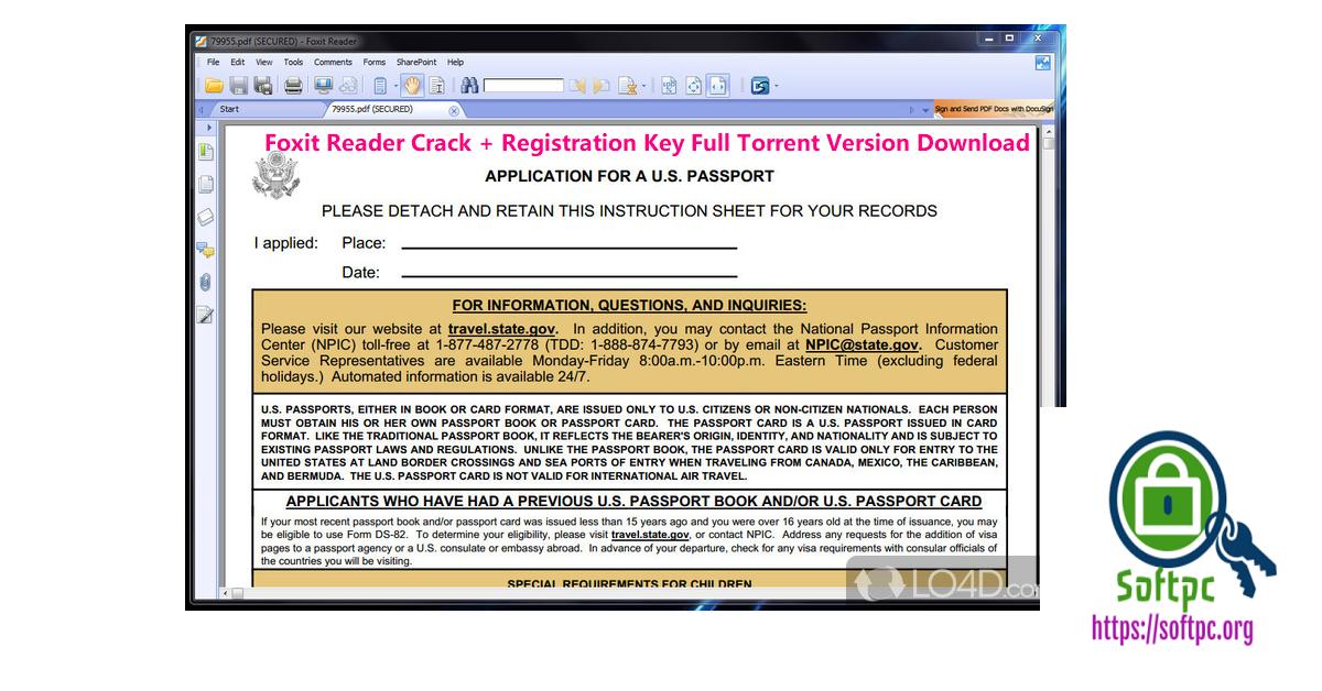 Foxit Reader Crack + Registration Key Full Torrent Version Download