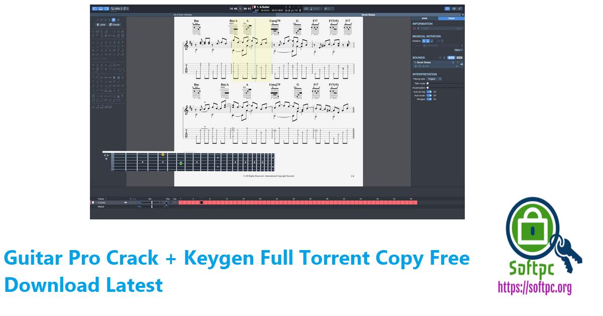 Guitar Pro Crack + Keygen Full Torrent Copy Free Download Latest