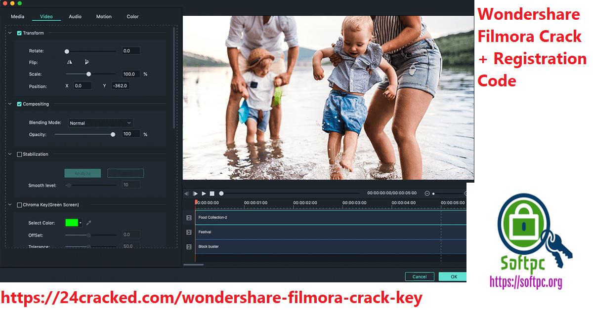 Wondershare Filmora Crack With Code & Key
