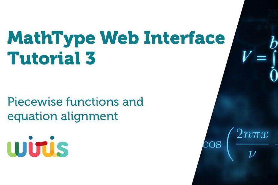 MathType web interface tutorial 2 - YouTube